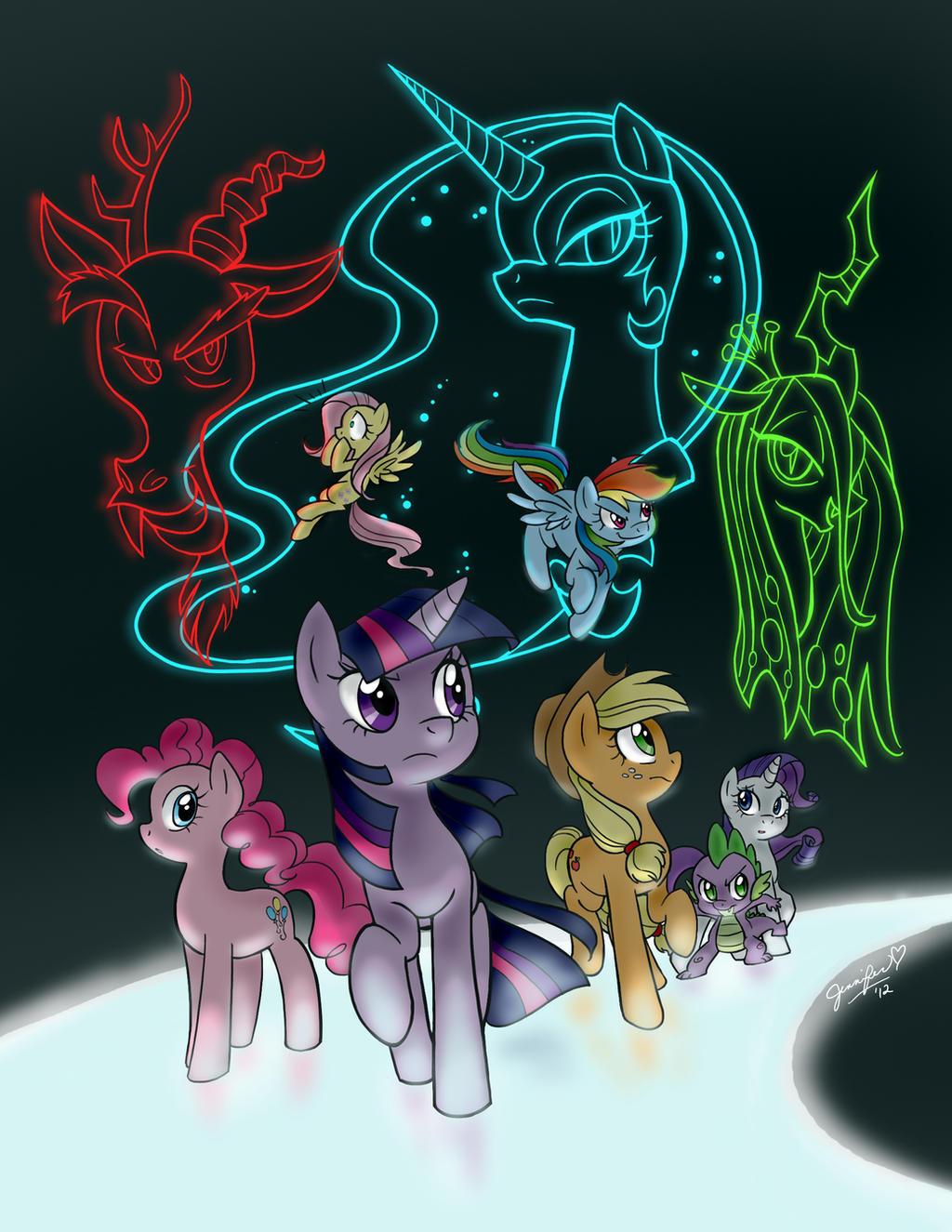 Pony Group by chibi-jen-hen
