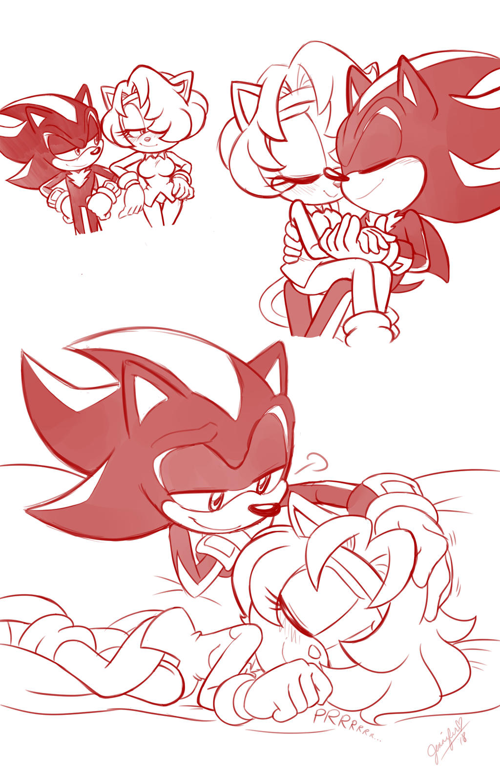 Shadow and Jade doodles by chibi-jen-hen