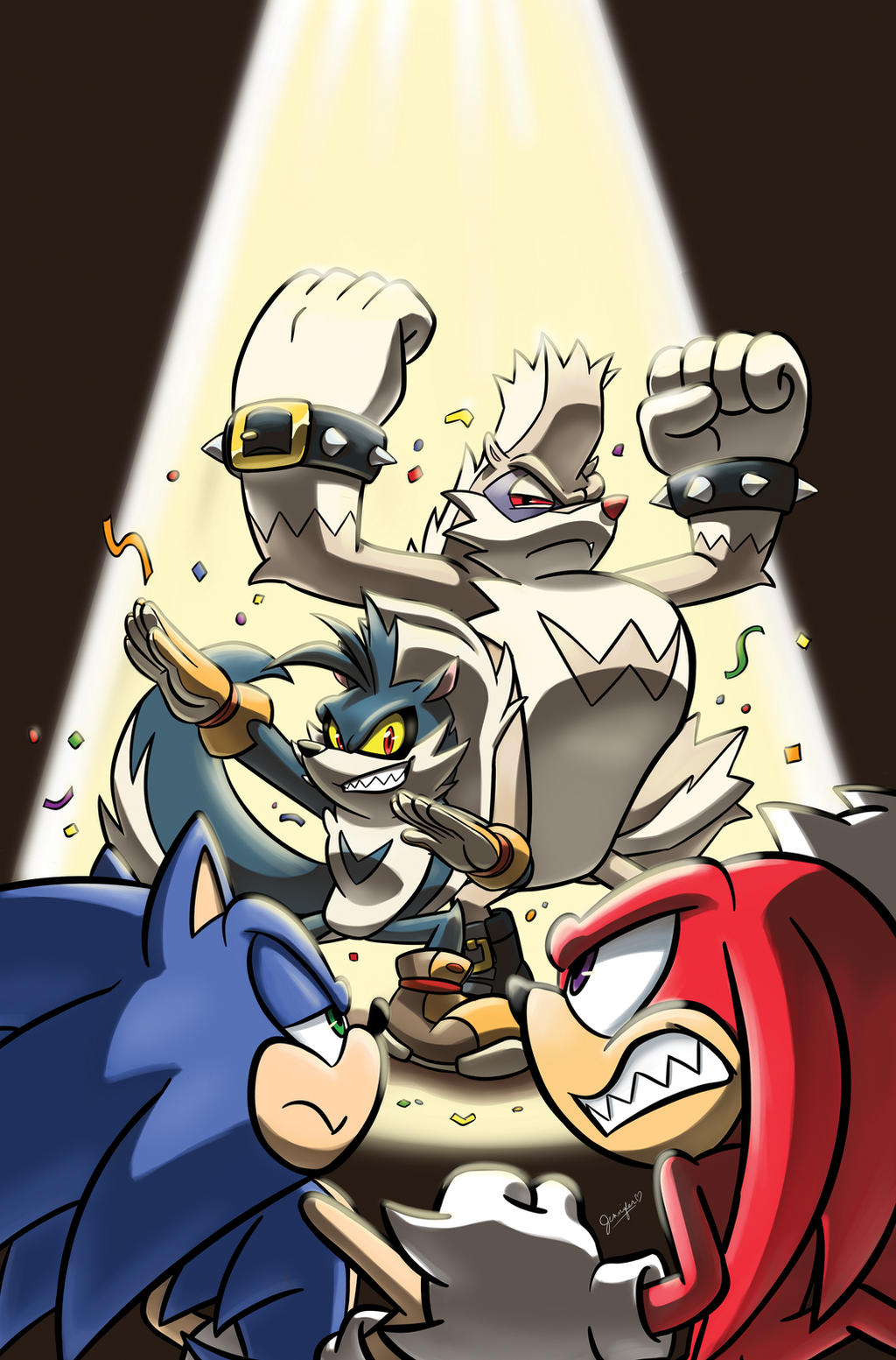 Sonic the Hedgehog issue 3 B Cover by chibi-jen-hen