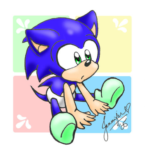 how to draw chibi sonic the hedgehog