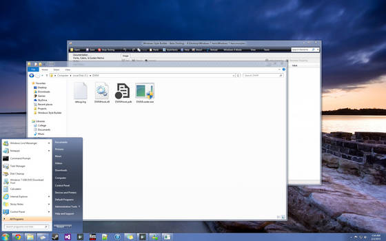 Windows 7 Aero + DWM Blur + StartIsBack in Win 8