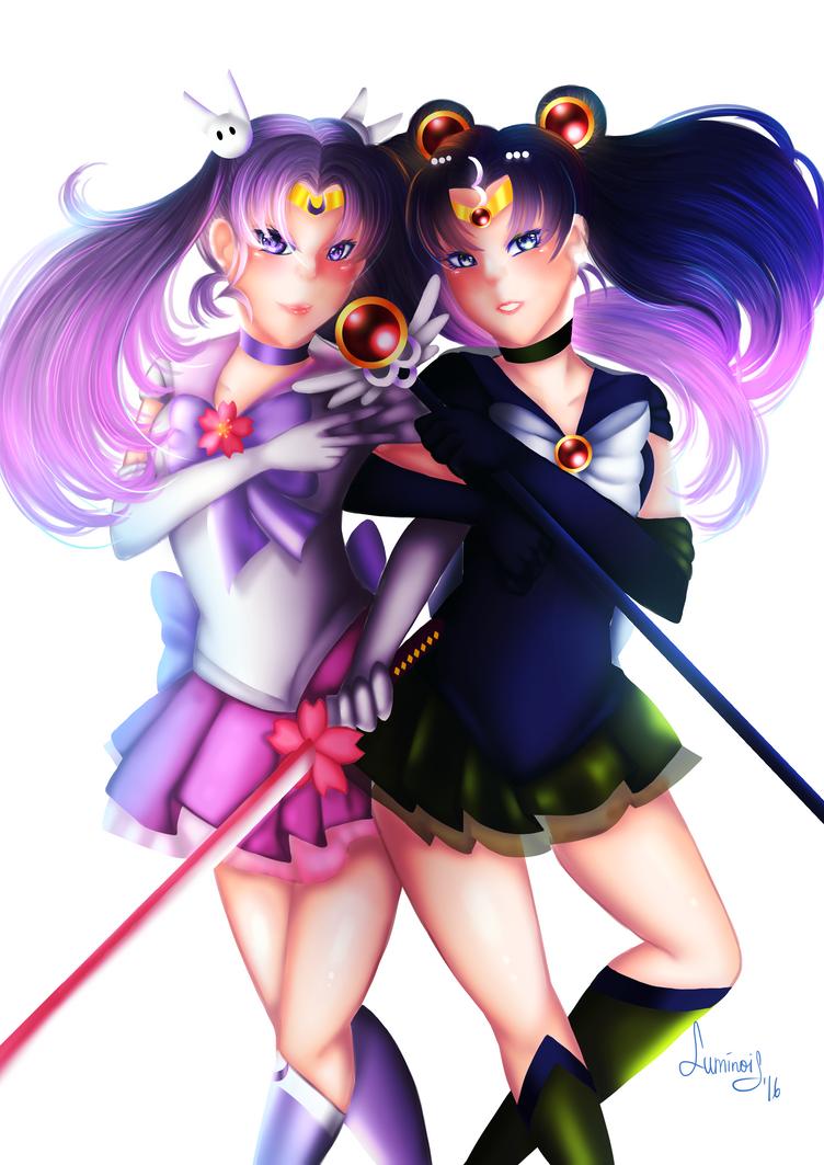 Sailor Sakura and Nehelenia by NoisArakis