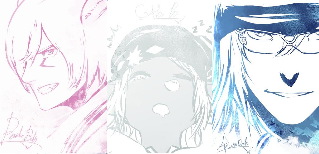 Raiden, Gakupo and Azurr by ShadowYazoo