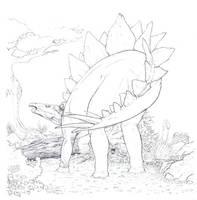 unfinished stegosaur