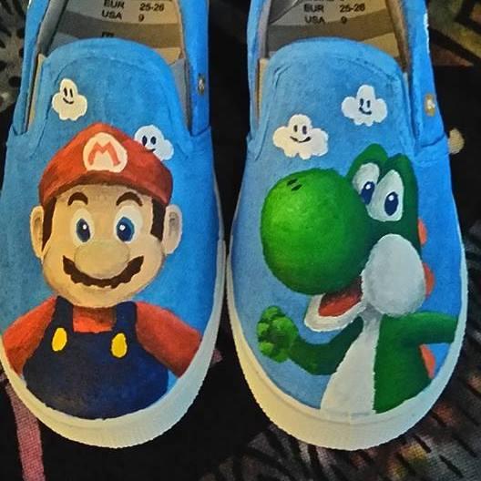 mario and yoshi shoeslogimarshal on deviantart
