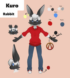 Kuro CharacterRef Sheet by AshenRose13