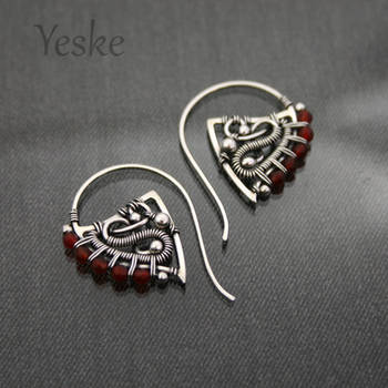 Xanthe II | Hoop earrings with carnelian by YeskeCrafts