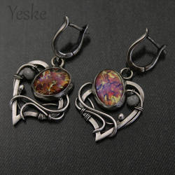 170525 | Earrings with upcycled glass cabochons by YeskeCrafts