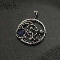 170625 | Wire-work pendant with sodalite