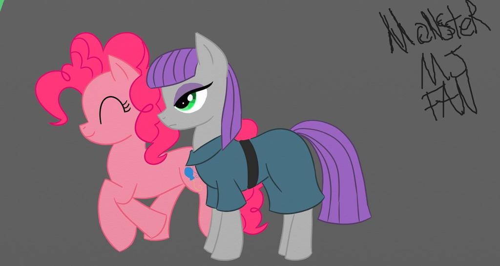 Maud Pie and Pinkie by MonsterMJFan