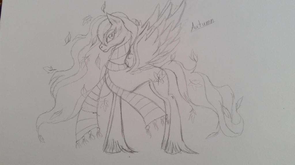 Autumn Sketch by MonsterMJFan