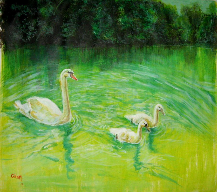 Swan Family by ArtofOkan