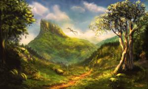 Mountain Path by ArtofOkan