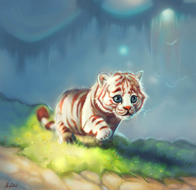 Little white tiger by ArtofOkan