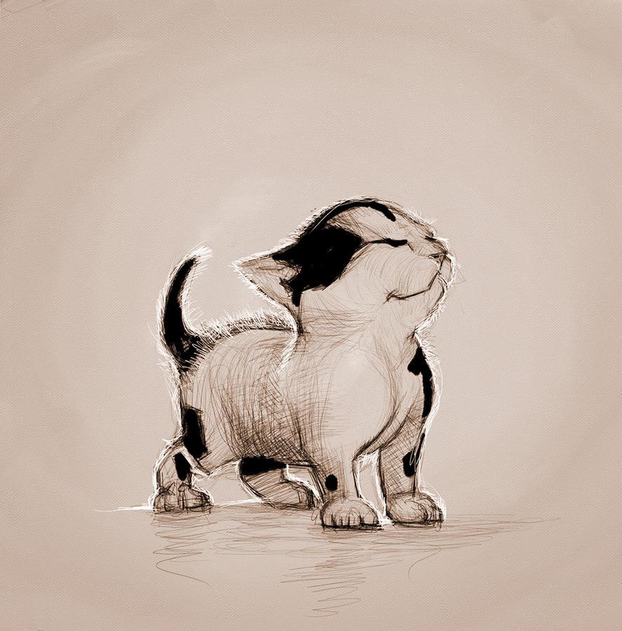 Happy kitten by ArtofOkan