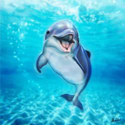 Smiling dolphin by ArtofOkan