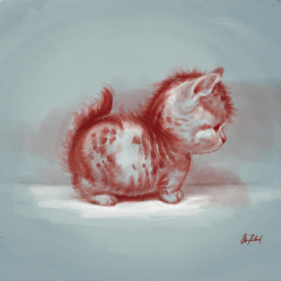 Chubby kitten by ArtofOkan