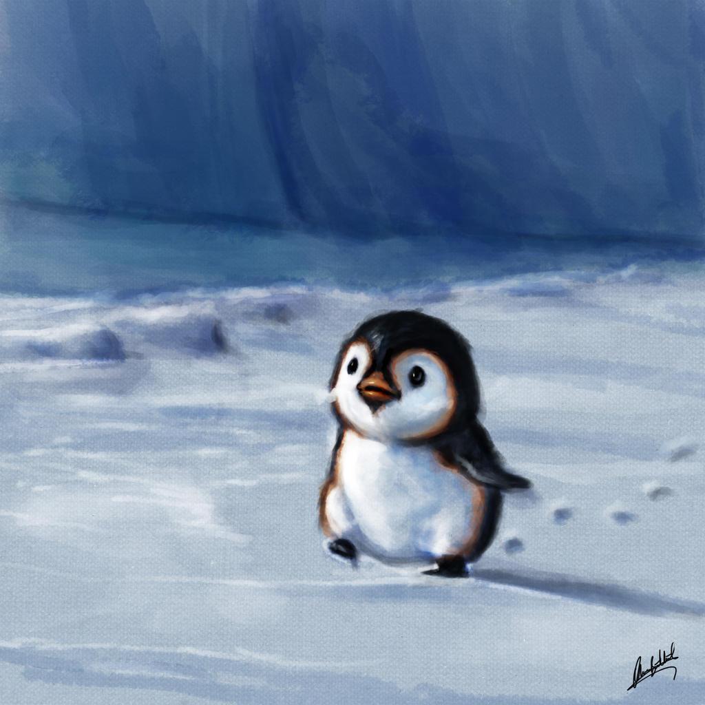 Walking on the snow by ArtofOkan