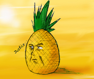 Serious PineApple Anime by 1pineapplejuice1