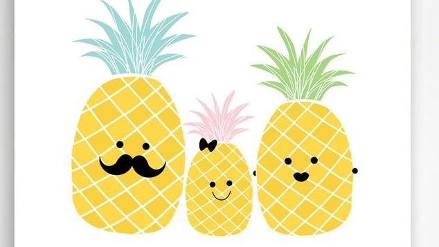 Kawaii Pineapples Family By 1pineapplejuice1 On Deviantart