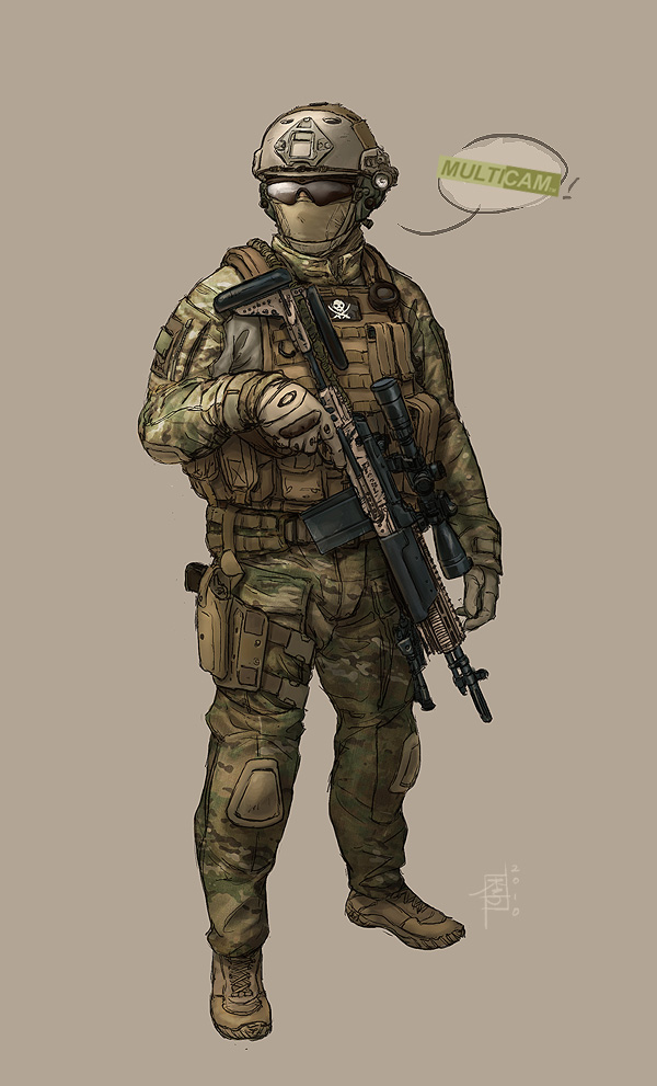 Multicam Rifleman by MarcWasHere