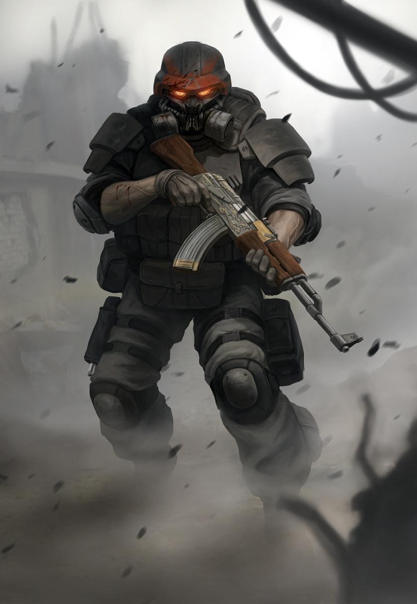 Blackshot Boss Dude by MarcWasHere