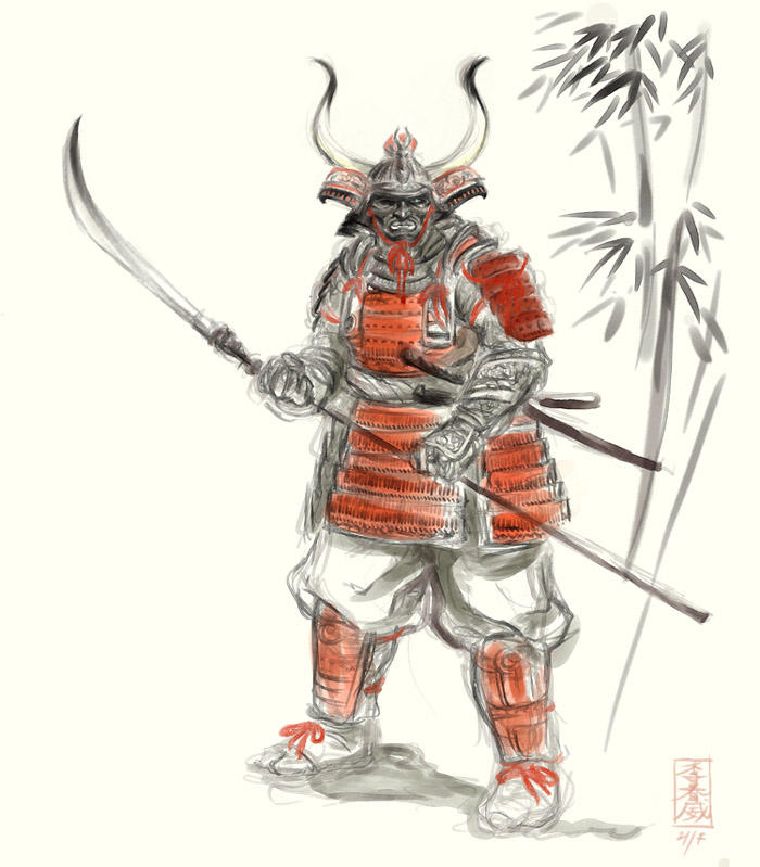 Samurai by MarcWasHere