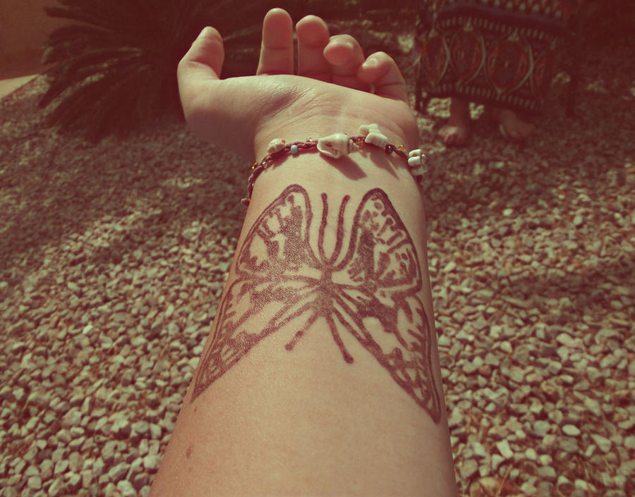 Mehndi Henna Butterfly : Henna tattoo butterfly by charlie rawrs on deviantart