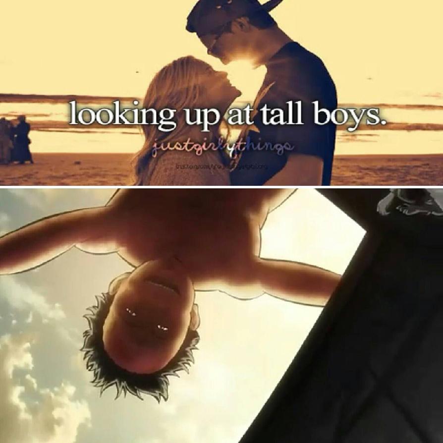 Looking Up At Tall Boys By Anime Otaku Sidekick
