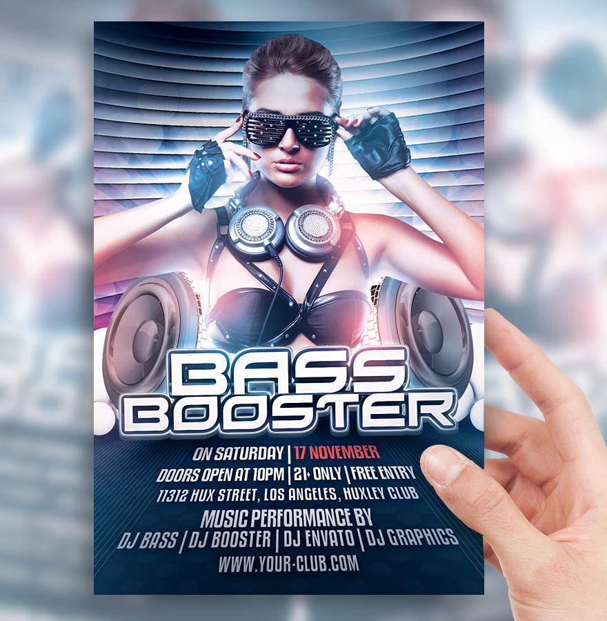 Bass Booster Club Flyer by sorengfx on DeviantArt – Club Flyer
