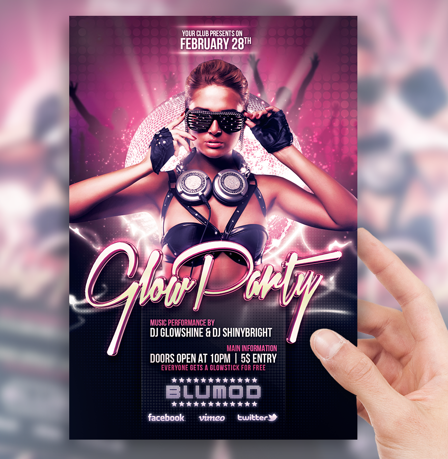 Glow party flyer template by sorengfx on deviantart glow party flyer template by sorengfx saigontimesfo