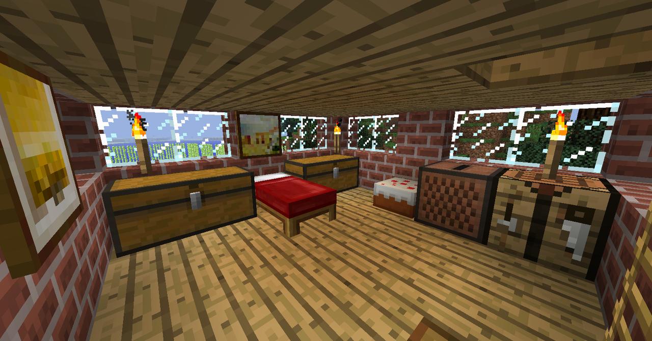Minecraft Bedroom Minecraft Bedroom 2nd Floor By Ceej95 On Deviantart