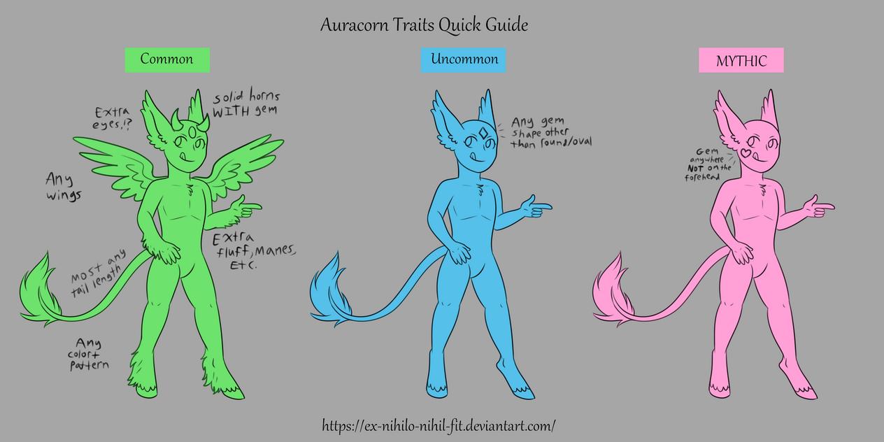 Auracorn Traits Quickguide by Ex-nihilo-nihil-fit