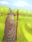 Gandalf -  The Lord of the Rings by An-Juu
