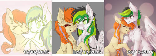 2015 - 2016 Art Improvement by Ginja-Hime