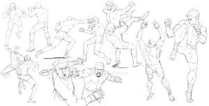 Warmup dudes Wrestling