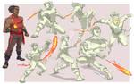 Balogun  action pose sheet