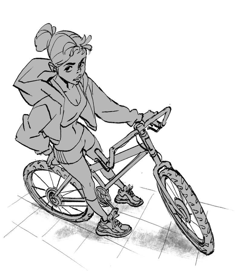 Warmup bike Chick by ifesinachi
