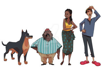 Character lineup by ifesinachi