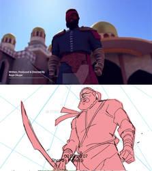 Storyboard vs final film comparison