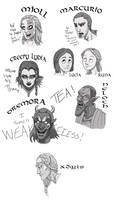 Skyrim NPCs significant to my Dragonborn by Litill-Alfrinn
