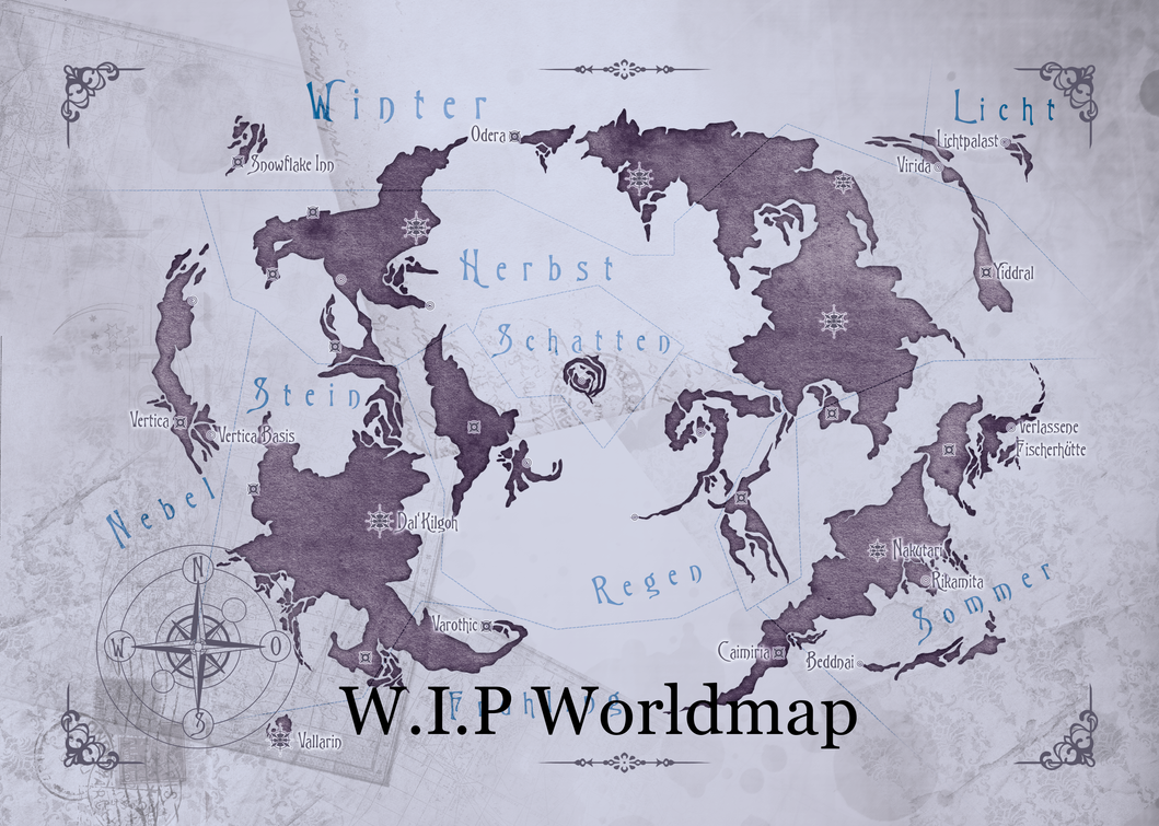 WIP Worldmap from Lesson of Light by SaintAria