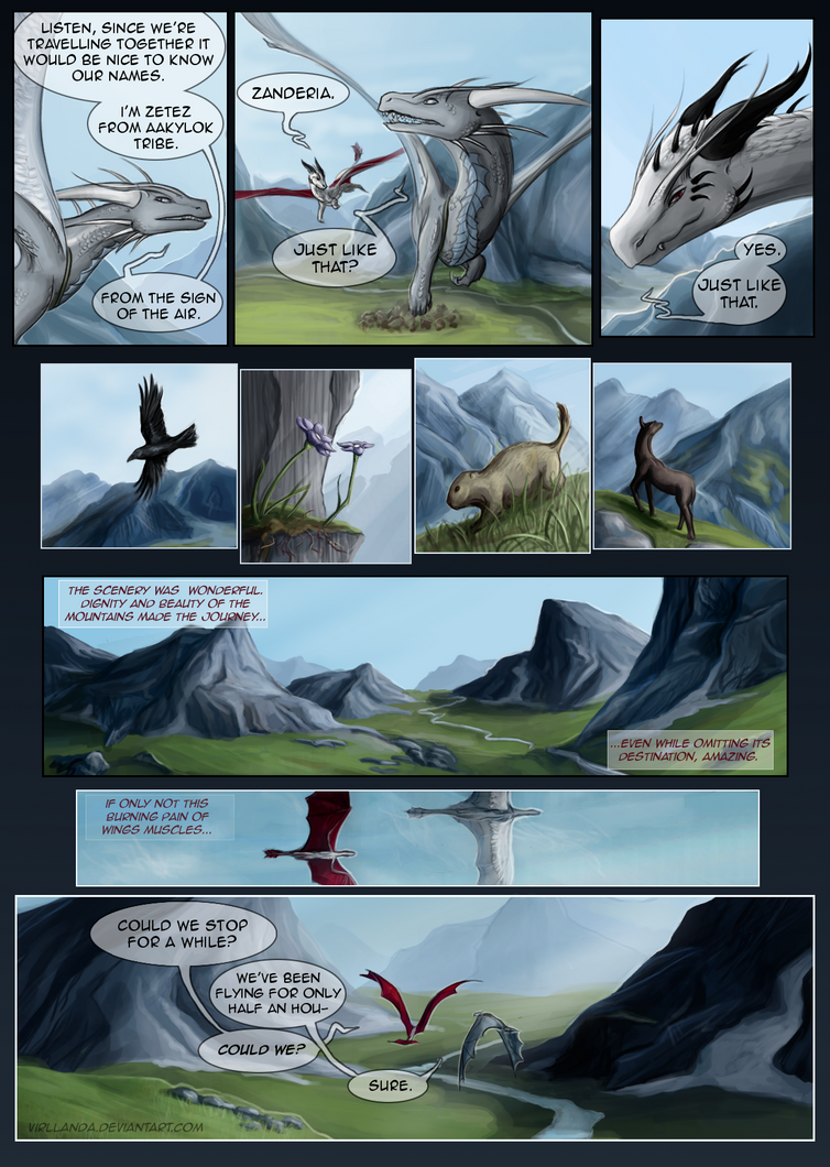 [ENG] Dragon Witch, Mountains- pg.9 by Virllanda
