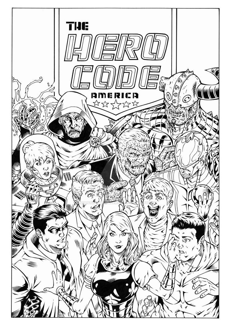 Hero Code MotM Issue 5 Cover by augustustodopoderoso