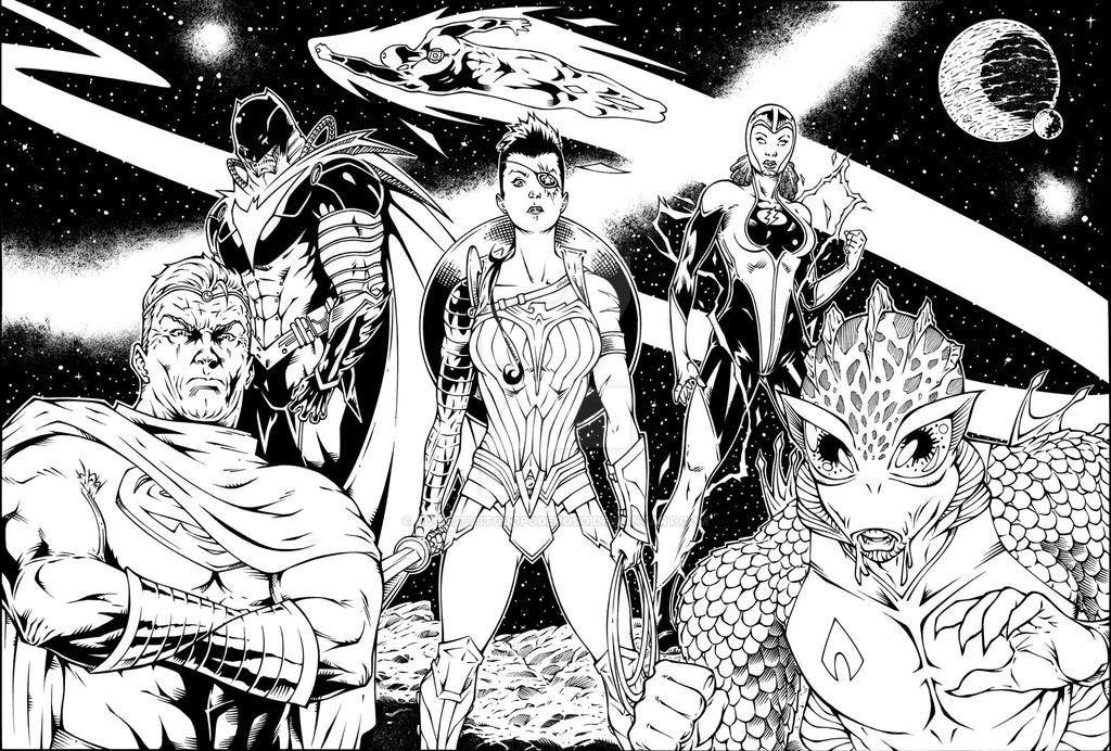 Justice League commission by augustustodopoderoso