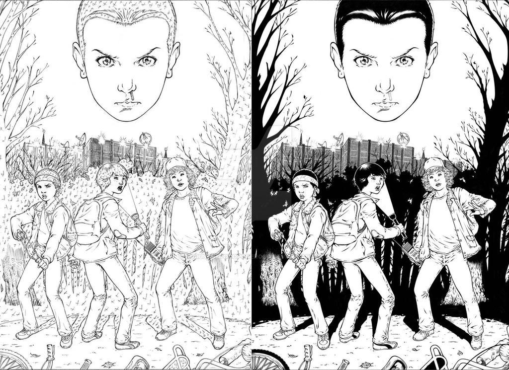 Stranger Things commission by augustustodopoderoso