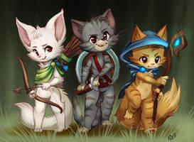 Castle Cats AKA My latest addiction by NimaDoodleZ