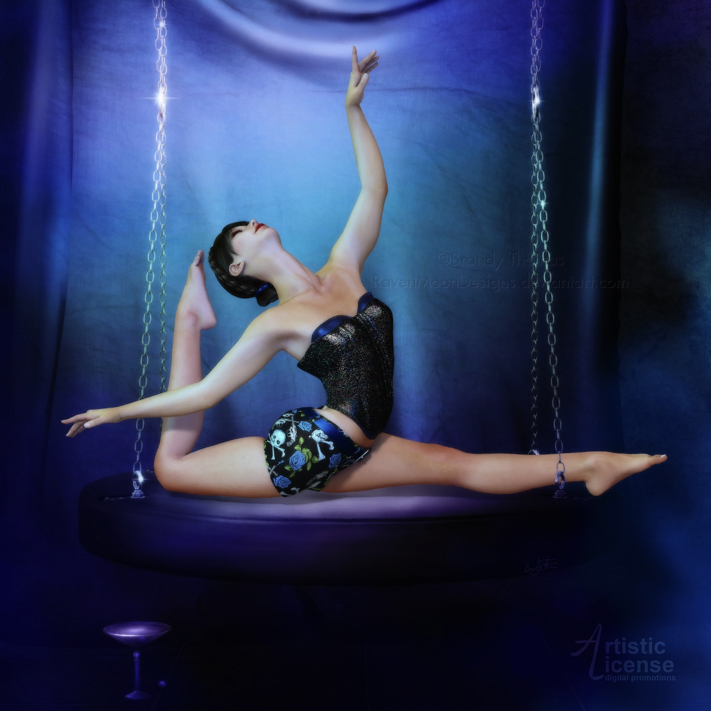 The Blue Dancer by RavenMoonDesigns