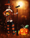 Li'l Witch of All Hallows by RavenMoonDesigns
