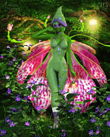 The Sprightly Orchid Faerie by RavenMoonDesigns
